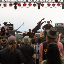 Slim Cessna's Autoclub having lots of fun live at Fire in the Mountains 2019